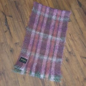 Vintage - Creebridge Scotland Mohair Plaid Scarf